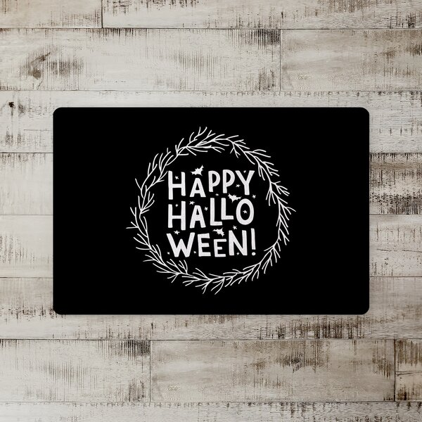 Alline Happy Halloween Wreath Kitchen Mat
