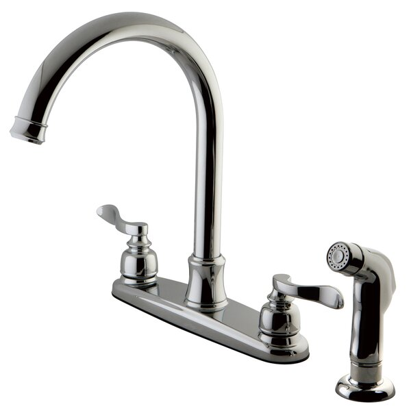 NuWave Double Handle Kitchen Faucet with Side Spray by Kingston Brass
