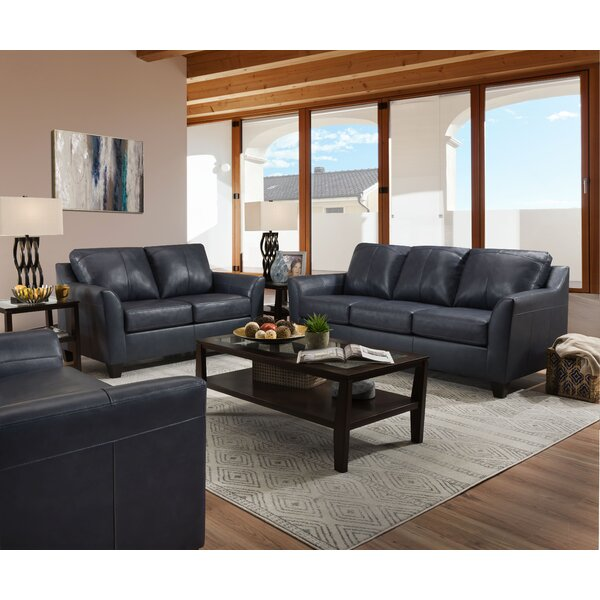 Laurendeau Leather Configurable Living Room Set by Red Barrel Studio
