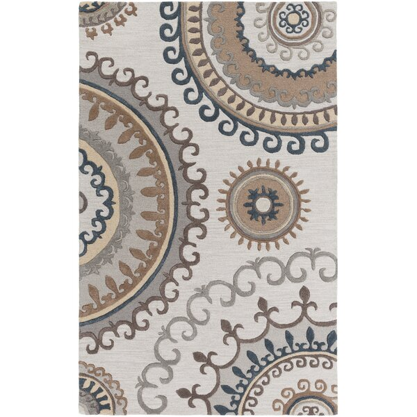 Costanzo Hand-Tufted Beige/Gray Area Rug by Red Barrel Studio