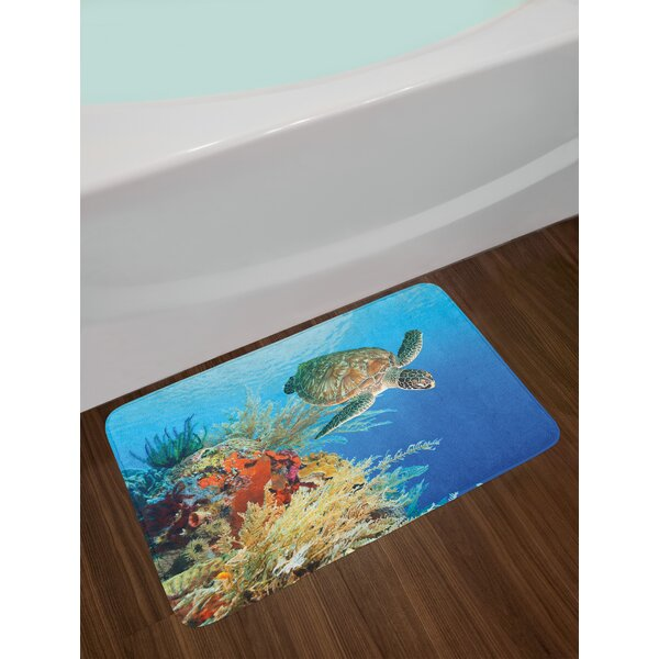 Colorful Turtle Bath Rug by East Urban Home