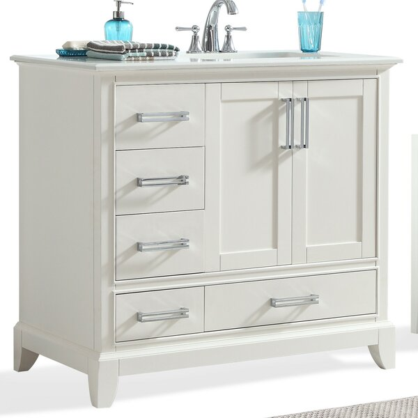 Elise 37 Single Bathroom Vanity Set by Simpli Home