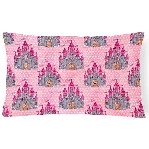 Kia Watercolor Princess Castle Indoor/Outdoor Throw Pillow by Zoomie Kids