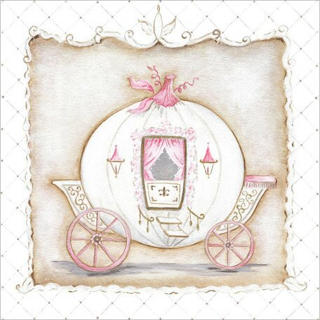 Little Princess Carriage I Canvas Art by Oopsy Daisy