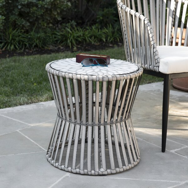 Melilani Outdoor Side Table by Bungalow Rose
