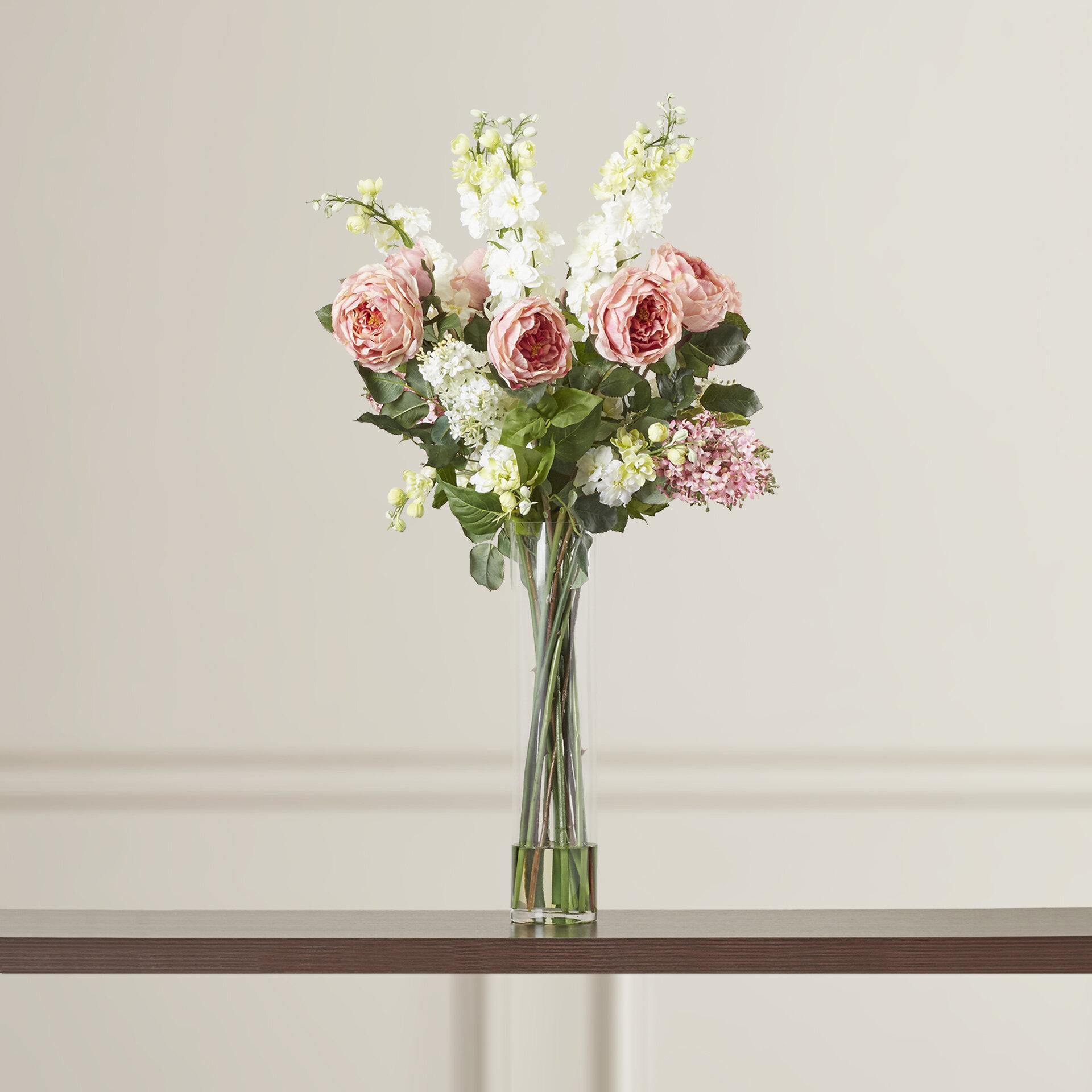 Rosdorf Park Rose Delphinium And Lilac Silk Floral Arrangements In