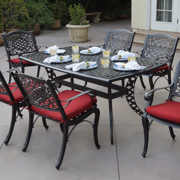 Appleby 7 Piece Dining Set with Cushions by Astoria Grand
