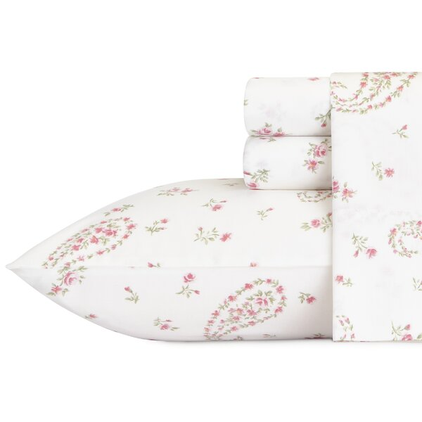Bristol Paisley 4 Piece 300 Thread Count Cotton Sheet Set by Laura Ashley Home