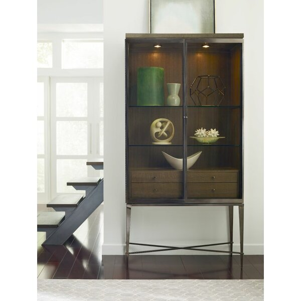 Laelia Lighted Curio Cabinet by Brayden Studio