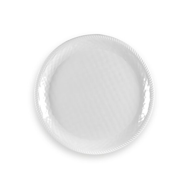 Exmore Round Melamine Platter by Breakwater Bay