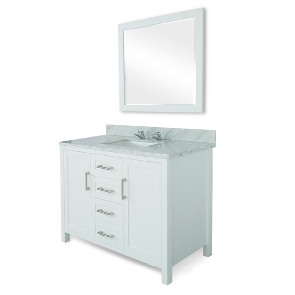 Hodgeman 48 Single Vanity Set with Mirror by Latitude Run