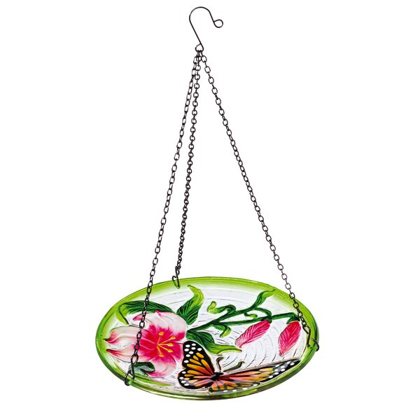 Fluttering Butterfly Hanging Birdbath by Evergreen Enterprises, Inc