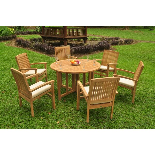 Kathryn 7 Piece Teak Dining Set by Rosecliff Heights