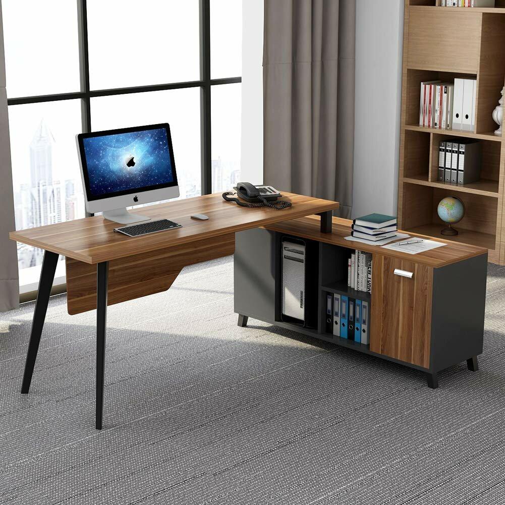 Goodrum L-Shaped Computer Desk