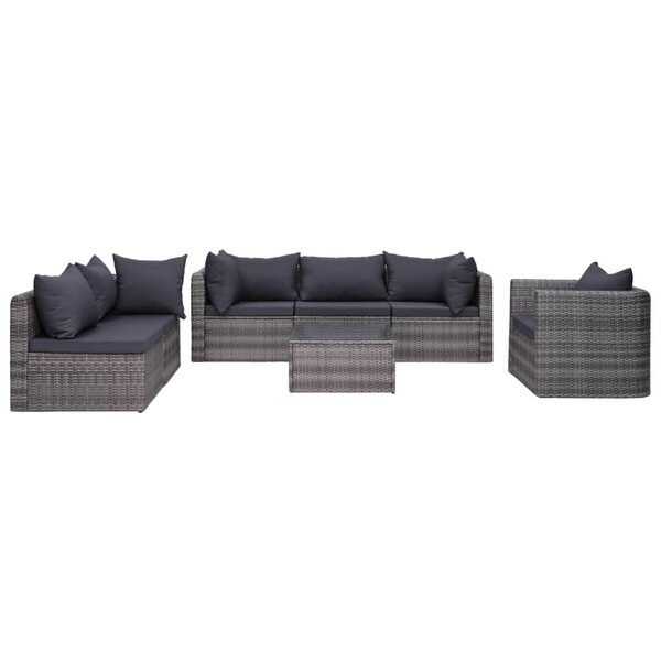 Truxton 7 Piece Rattan Sofa Seating Group with Cushions by Ebern Designs