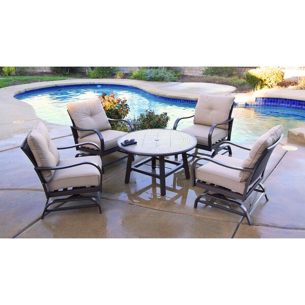 Bevins North Ridge 5 Piece Multiple Chairs Seating Group with Cushions by Canora Grey