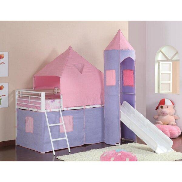 Pippin Princess Castle Twin Low Loft Bed by Zoomie Kids