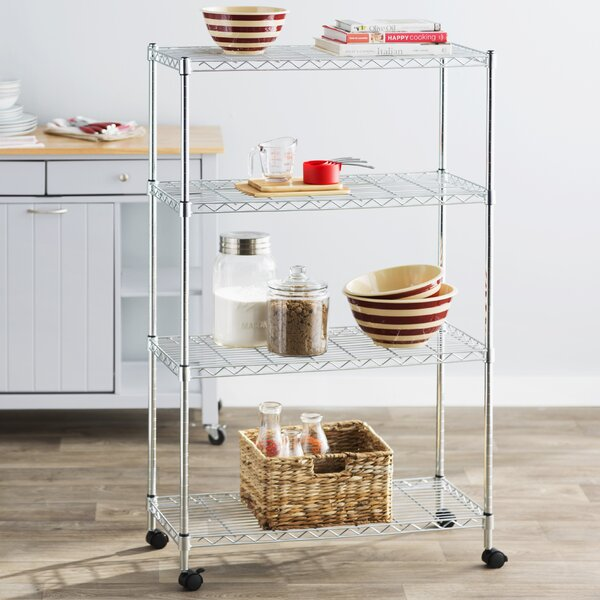 Wayfair Basics 50H x 30W 4 Shelf Wire Shelving Uni