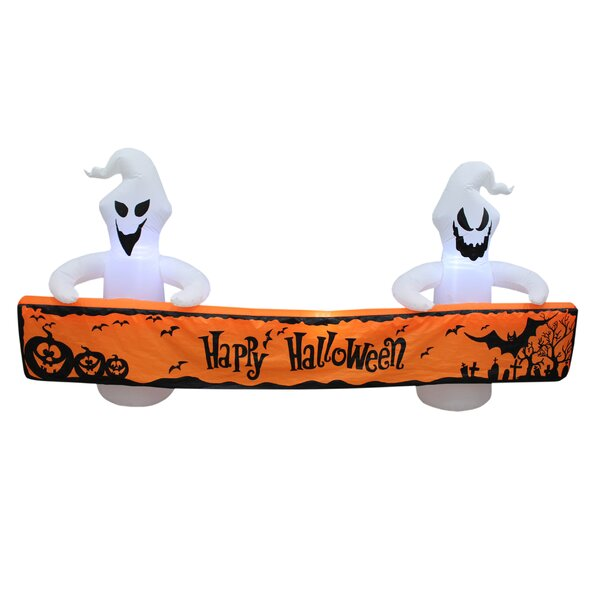 Halloween Ghosts with Banner Inflatable by The Holiday Aisle