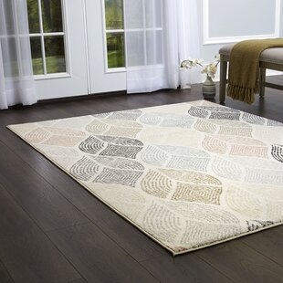 Sharonville Ivory/Cream/Brown Area Rug by Bungalow Rose
