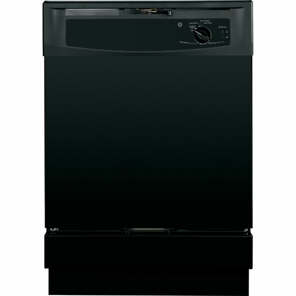24 64 dBA Built-In Dishwasher with Front Controls by GE Appliances