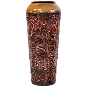 Cylinder Brown Metal Vase