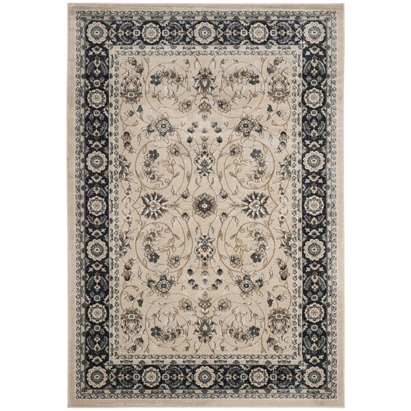 Taufner Light Beige/Anthracite Area Rug by Astoria Grand