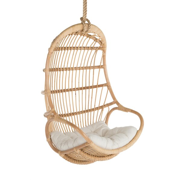 Briaroaks Hanging Rattan Swing Chair by Greyleigh
