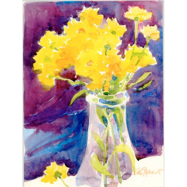 Yellow Flowers in a vase House Vertical Flag by Caroline's Treasures