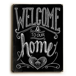 Welcome Textual Art by Laurel Foundry Modern Farmhouse