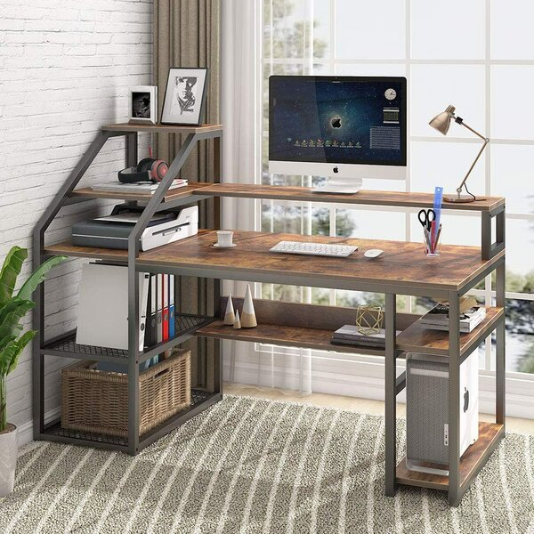 Kemmer Reversible Desk with Hutch