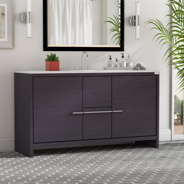 Bosley 60 Single Modern Bathroom Vanity Set by Mercury Row