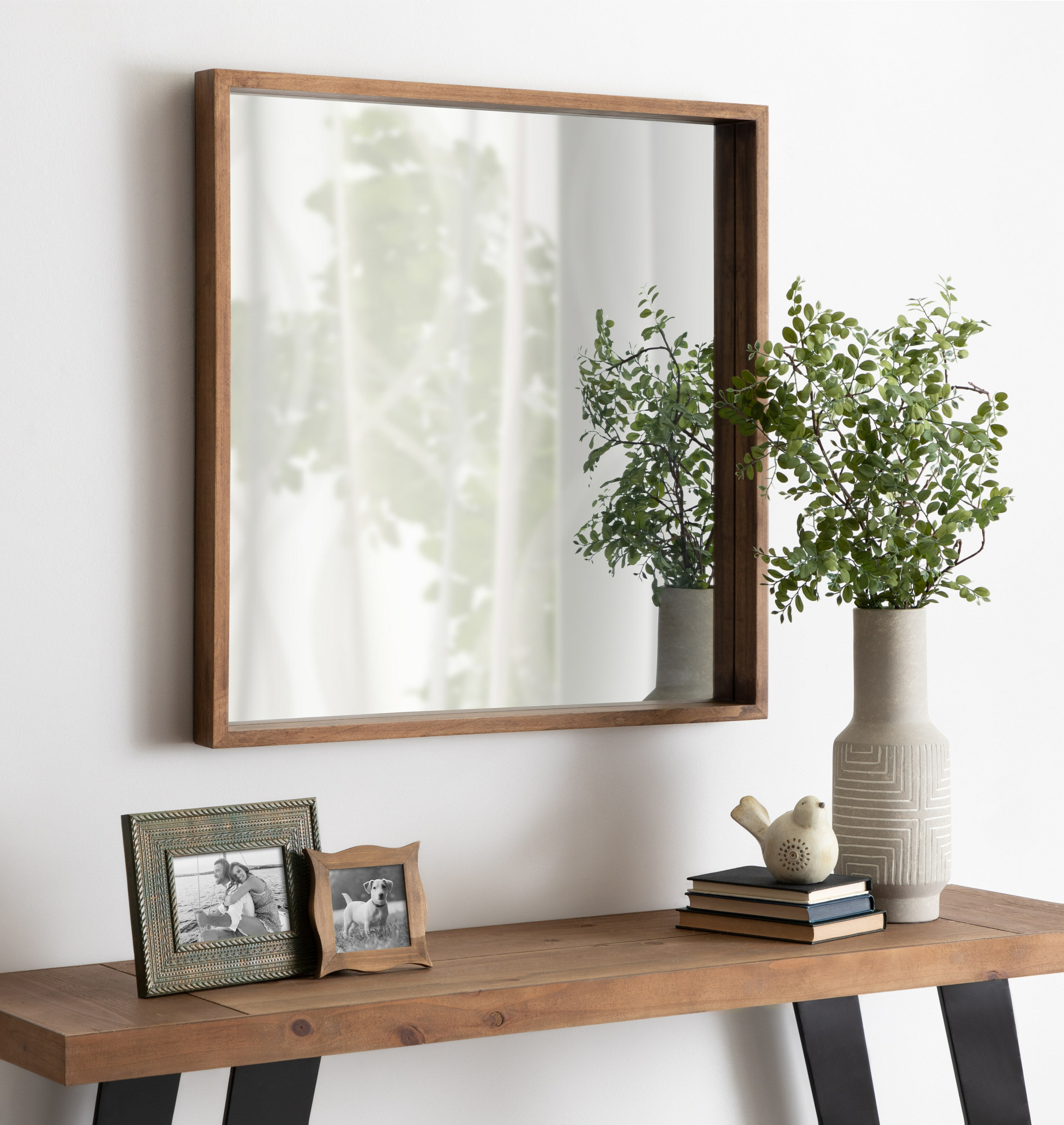 Ebern Designs Agapi Coastal Beveled Accent Mirror Wayfair