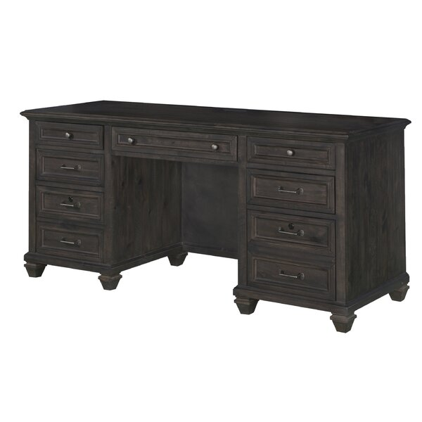 Altenburg Solid Wood Credenza Desk [Greyleigh]