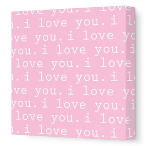 Imaginations 'I Love You' Graphic Print on Stretched Canvas by Avalisa