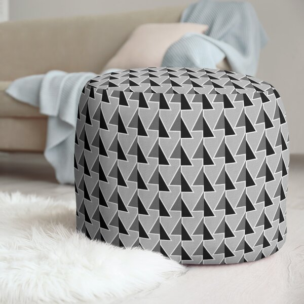 Shifted Arrows Pattern Pouf by East Urban Home