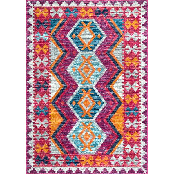 Celie Pink Area Rug by Bungalow Rose