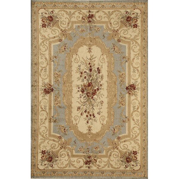 Berghoff Blue/Gold Area Rug by Threadbind