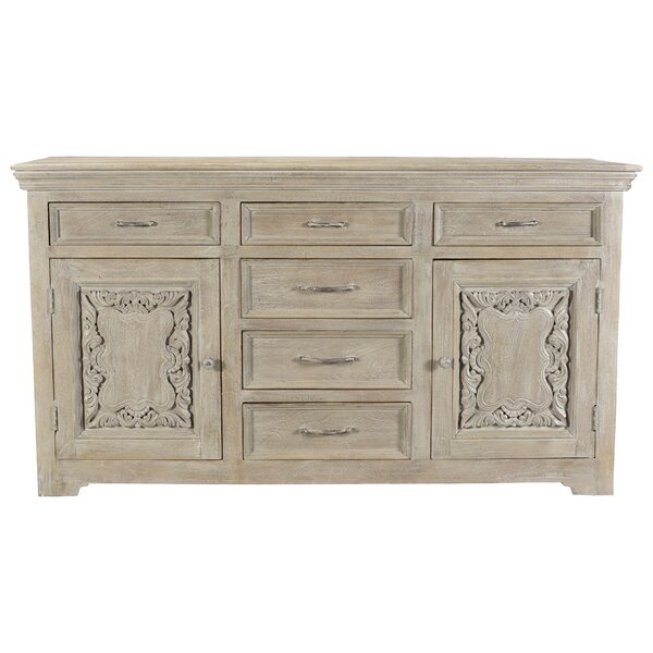 Patchway Carved Panel 6 Drawer Combo Dresser by One Allium Way