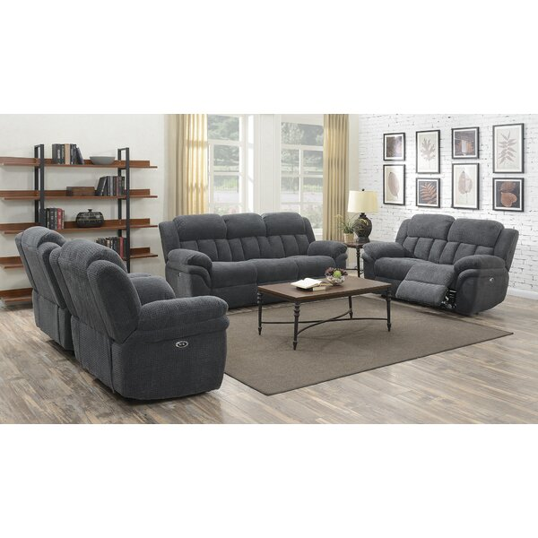 Kimmel Reclining 3 Piece Living Room Set by Winston Porter