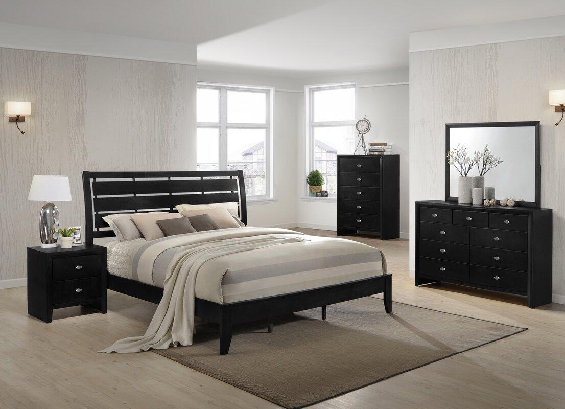 Roundhill Furniture Gloria Platform 5 Piece Bedroom Set & Reviews ...