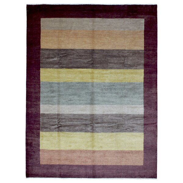 One-of-a-Kind Craft Gabbeh Oriental Hand Woven Wool Brown Area Rug by Isabelline