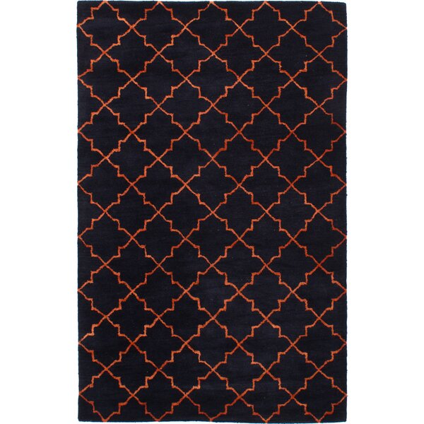 Helsley Hand-Tufted Dark Navy Area Rug by Mercer41