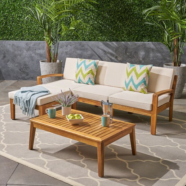 Bellows 5 Piece Sectional Seating Group by Sol 72 Outdoor