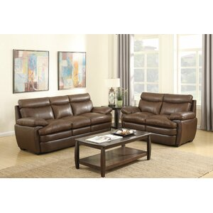 Millwood Leather Loveseat Darby Home Co
