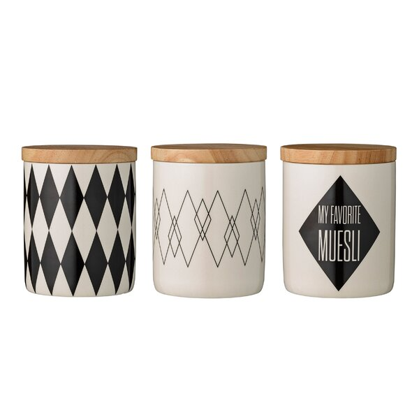 Chau Ceramic 3 Piece Kitchen Canister Set by Mint Pantry