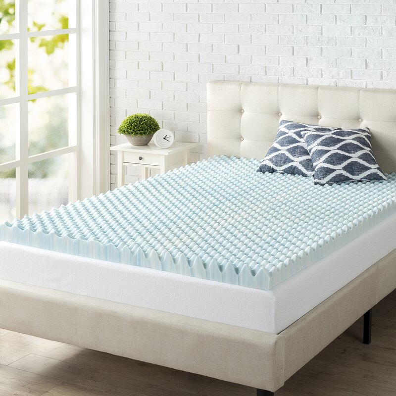 Amazon Com Polar Sleep Mattress Topper Queen 3 Inch Gel Swirl
