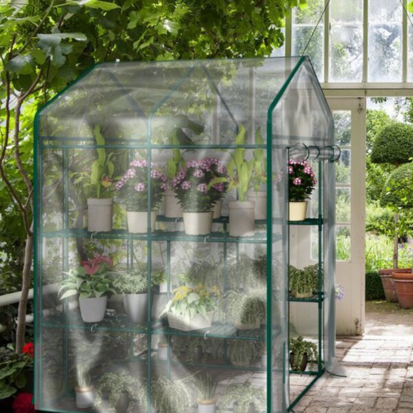 Freestanding 4.75 Ft. W x 4.75 Ft. D Hobby Greenhouse by Home-Complete