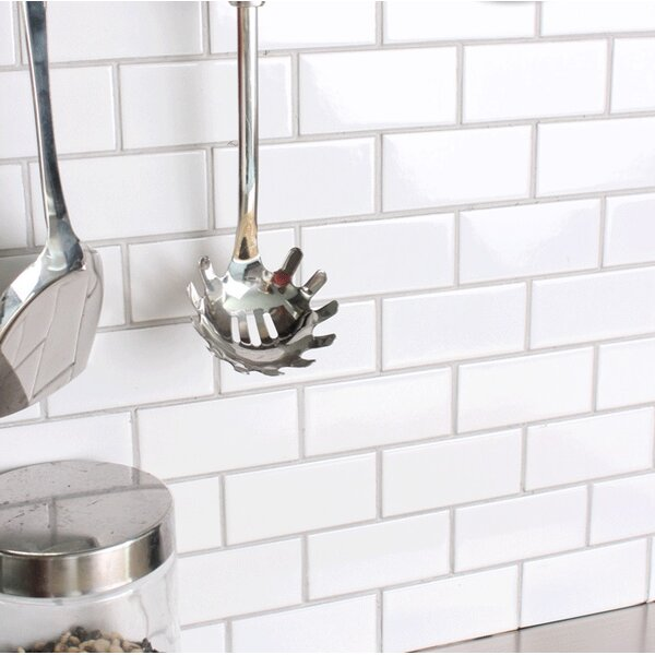 Value Series 3 X 6 Ceramic Subway Tile In Bright Glossy White By Ws Tiles.