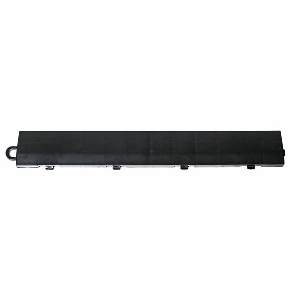 12 x 1.75 Plastic Interlocking Deck Edge Trim in Black by DuraGrid